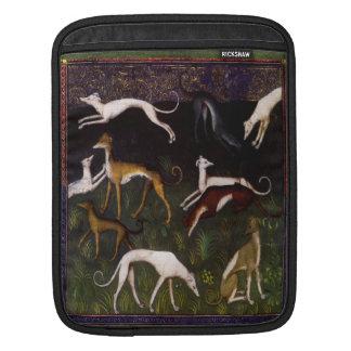 Galgos medievales en el bosque profundo mangas de iPad