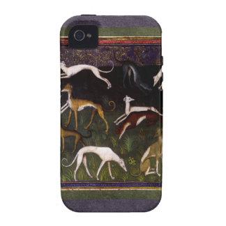 Galgos medievales en las maderas profundas iPhone 4/4S fundas