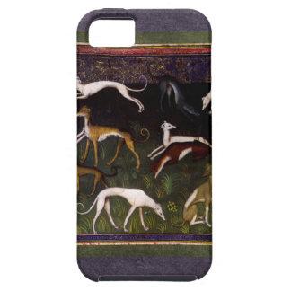 Galgos medievales en las maderas profundas iPhone 5 Case-Mate carcasa
