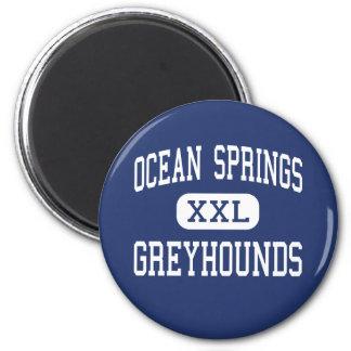Galgos Ocean Springs de Ocean Springs Imán Redondo 5 Cm