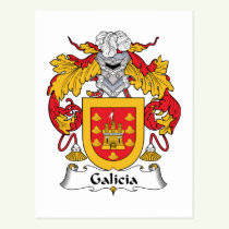 Galicia Family Crest Postcard