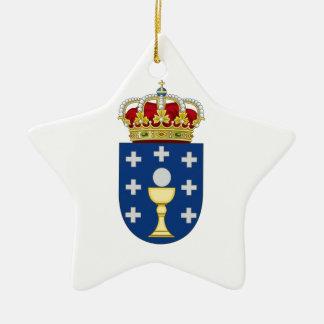 Galicia (Spain) Coat of Arms Ceramic Ornament