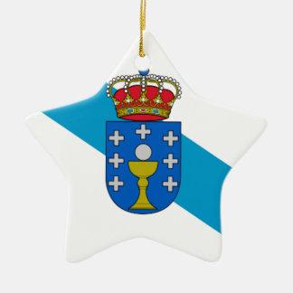 Galicia (Spain) Flag Ceramic Ornament