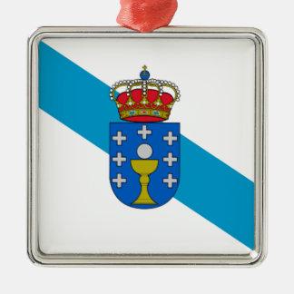 Galicia (Spain) Flag Metal Ornament