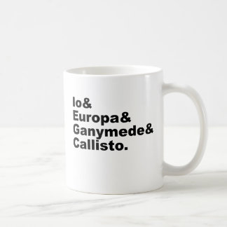 Galilean Moons   Io Europa Ganymede Callisto Coffee Mug