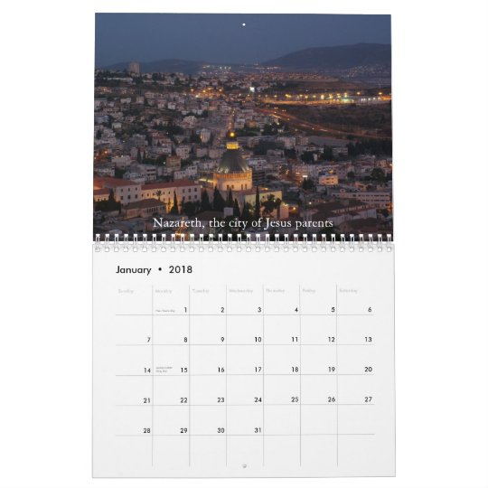 Galilee Visual Experience Calendar