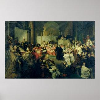 Galilei ante el consejo, 1861 póster