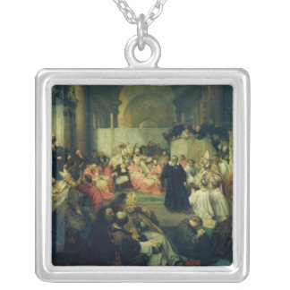 Galilei before the Council, 1861 Silver Plated Necklace