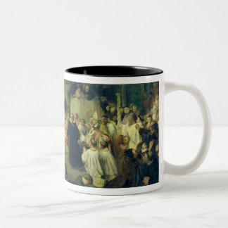 Galilei before the Council, 1861 Two-Tone Coffee Mug