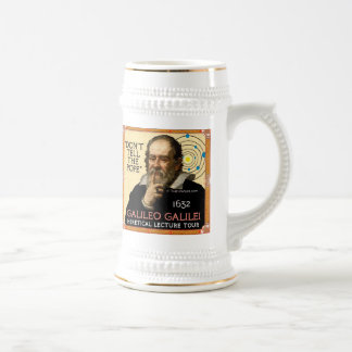 Galileo 1632 Lecture Tour Beer Stein