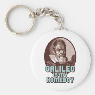 Galileo Basic Round Button Keychain