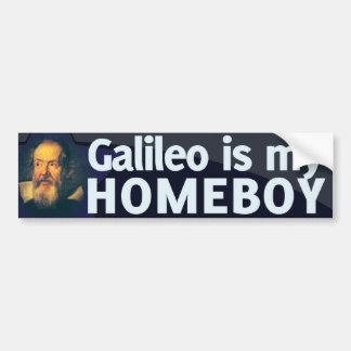 Galileo es mi Homeboy Etiqueta De Parachoque