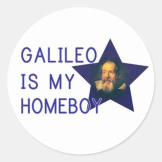 Galileo es mi Homeboy Pegatina Redonda