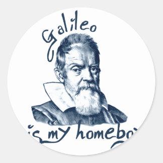 Galileo es mi Homeboy Etiquetas Redondas