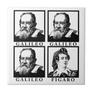 Galileo Figaro BW Azulejo Cuadrado Pequeño