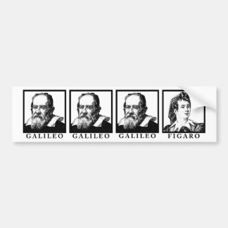 Galileo Figaro BW Bumper Sticker
