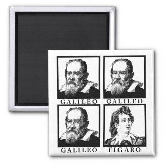 Galileo Figaro BW Imán Cuadrado