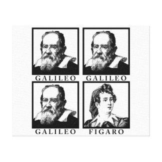 Galileo Figaro BW Impresión En Lienzo