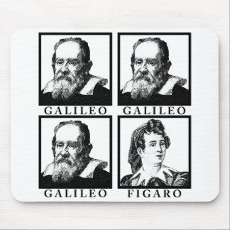 Galileo Figaro BW Mouse Pads