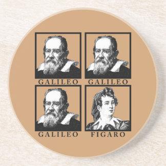 Galileo Figaro BW Posavasos Personalizados
