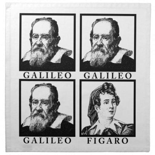 Galileo Figaro BW Printed Napkin