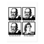 Galileo Figaro BW Tarjeta Postal