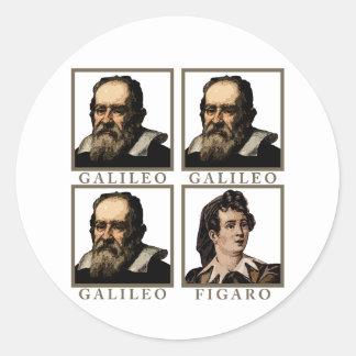 Galileo Figaro Pegatina Redonda