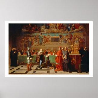 Galileo Galilei (1564-1642) antes de miembros del Poster
