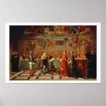 Galileo Galilei (1564-1642) antes de miembros del Póster