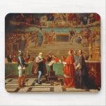 Galileo Galilei (1564-1642) antes de miembros del Tapete De Raton