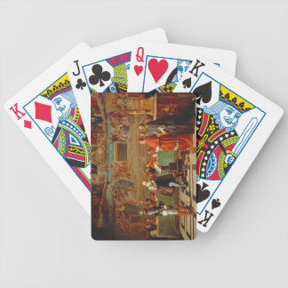 Galileo Galilei (1564-1642) before members of the Bicycle Playing Cards