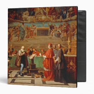 Galileo Galilei (1564-1642) before members of the Vinyl Binders