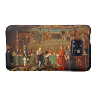 Galileo Galilei (1564-1642) before members of the Samsung Galaxy S2 Cover