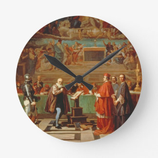 Galileo Galilei (1564-1642) before members of the Round Wall Clocks