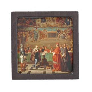 Galileo Galilei (1564-1642) before members of the Jewelry Box