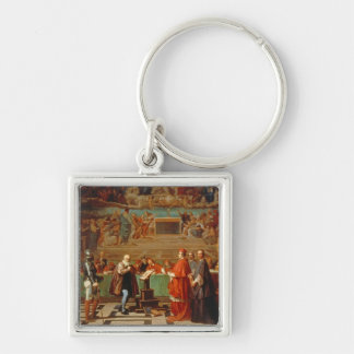 Galileo Galilei (1564-1642) before members of the Keychain
