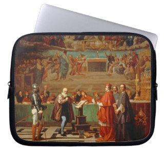 Galileo Galilei (1564-1642) before members of the Laptop Sleeves