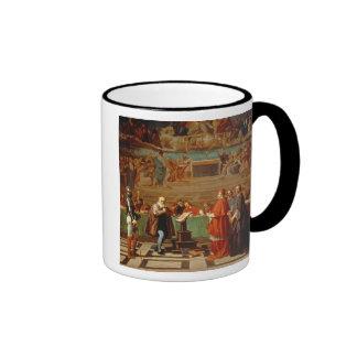 Galileo Galilei (1564-1642) before members of the Coffee Mugs