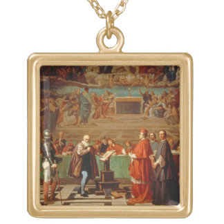 Galileo Galilei (1564-1642) before members of the Necklaces