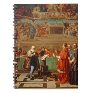 Galileo Galilei (1564-1642) before members of the Journal