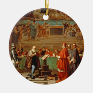 Galileo Galilei (1564-1642) before members of the Christmas Ornaments