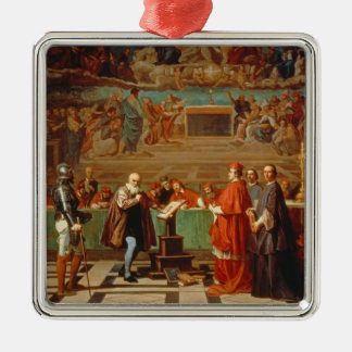 Galileo Galilei (1564-1642) before members of the Ornaments