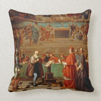 Galileo Galilei (1564-1642) before members of the Throw Pillows
