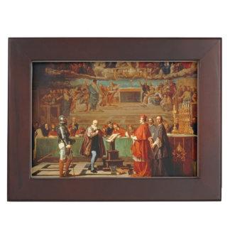 Galileo Galilei (1564-1642) before members of the Keepsake Boxes