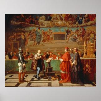 Galileo Galilei (1564-1642) before members of the Print