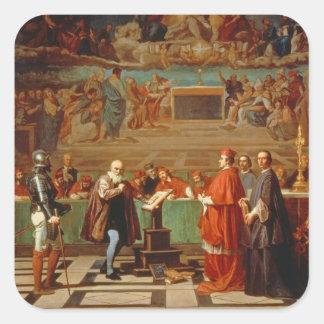 Galileo Galilei (1564-1642) before members of the Sticker