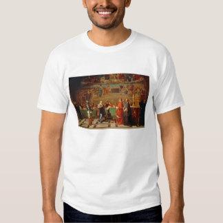 Galileo Galilei (1564-1642) before members of the T Shirt