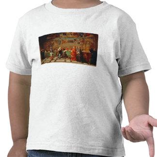 Galileo Galilei (1564-1642) before members of the T Shirts