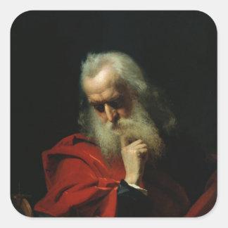 Galileo Galilei 1858 Calcomanía Cuadradas
