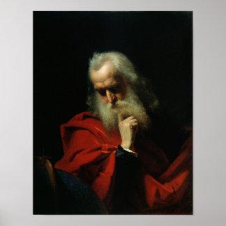 Galileo Galilei 1858 Póster